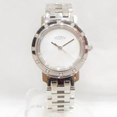 時計 エルメス Hermes クリッパーナクレ 12PD シェル文字盤 腕時計【中古】