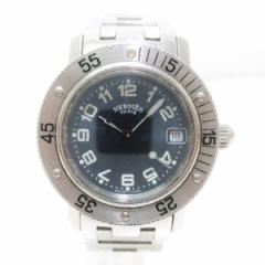 時計 エルメス Hermes クリッパー ダイバー レディース腕時計 ネイビー【中古】