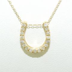 K18 18金 YG イエローゴールド ネックレス ダイヤ 0.20 中古ジュエリー