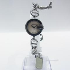 時計 グッチ GUCCI チャーム付 ウオッチ ブレスレット 腕時計 時計 107 ブレスウオッチ レディース【中古】