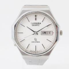 時計 CITIZEN シチズン CRYSTRON クリストロン 4-860985 メンズ クオーツ 腕時計 デイデイト LED搭載【中古】