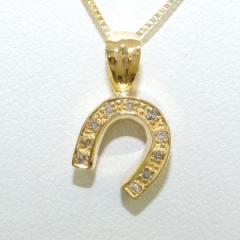 K18 18金 YG イエローゴールド ネックレス ダイヤ 中古ジュエリー