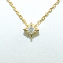 K18 18金 YG イエローゴールド ネックレス ダイヤ 0.10 中古ジュエリー