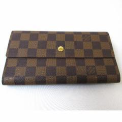 ルイヴィトン Louis Vuitton ダミエ 三つ折り財布 N61217【中古】