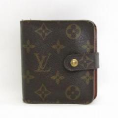 ルイヴィトン Louis Vuitton モノグラム コンパクトジップ 二つ折り財布 M61667【中古】