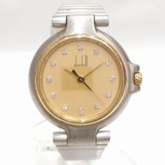 時計 ダンヒル ミレニアム レディース腕時計 12Pダイヤ ゴールド文字盤【中古】