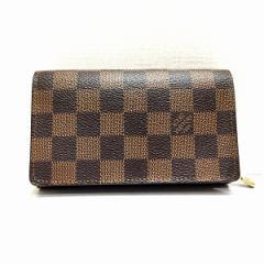 ルイヴィトン Louis Vuitton ルイ. ダミエ ポルトフォイユ.トレゾール N61736 二つ折り財布【中古】