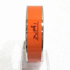 エルメス Hermes Hermes 未使用品 エマイユ ラージ 70 カレーシュ バングル ブレスレット オレンジ系 小物【中古】