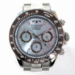 時計 テクノス クロノグラフ メンズ 腕時計 T4251【中古】