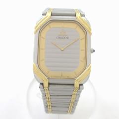 時計 セイコー クレドール 2F70-5480 メンズ クォーツ SS 18KT【中古】
