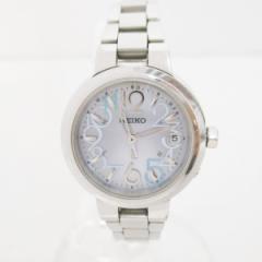 時計 セイコー ルキア 1B22-0AK0 レディース時計 ソーラークォーツ ブルー【中古】