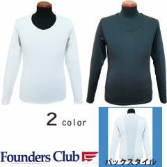 FOUNDERS CLUB クールインナーVネックシャツ 背中切り替え FC-1506S