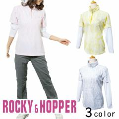 ROCCY&HOPPER 長袖レイヤードZIPハイネックシャツ RH-1720SL