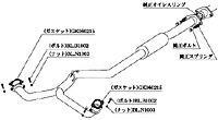 柿本改 カキモトレーシング センターパイプ スバル エクシーガ 2.0GT YA5用(BCP332)