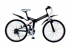 【送料無料】【代引不可】ミムゴ CHEVROLETシボレー WサスFD-MTB26 18SE 折りたたみ自転車 MG-CV2618E[26インチ/ブラック]