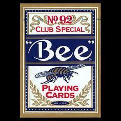 トランプカード ビーカード ポーカーサイズ (青/ブルー) 【Bee ラスベガス カジノ使用カード USプレイングカード社製】