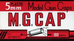 モデルガン専用 キャップ火薬 5mm M.G.CAP 100発入 【MGC 5ミリ モデルガンキャップ MGキャップ 発火モデルガン用 カネコ】