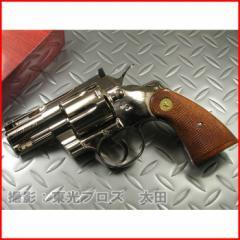 タナカ ガスガン コルトパイソン .357マグナム 2.5インチ Rモデル ニッケルフィニッシュ 【シルバー アールモデル COLT