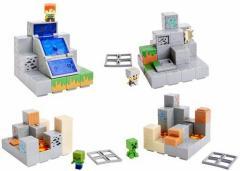 マインクラフト ミニフィギュア プレイセット  第1弾 全4種類セット 【全種類セット マイクラ Minecraft マテル】