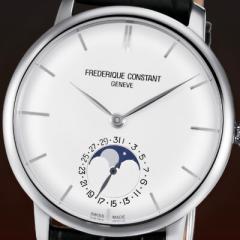 フレデリックコンスタント 腕時計 スリムライン ムーンフェイズ マニュファクチュール FC-705S4S6