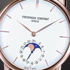 フレデリックコンスタント 腕時計 スリムライン ムーンフェイズ マニュファクチュール 18Kローズゴールドケース FC-705V4S9