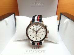 ティソ 腕時計 TISSOT クイックスター QUICKSTER クォーツ シルバー文字盤 NATOストラップ T095.417.17.037.01  【文字盤カラー シルバ