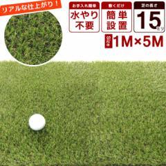 芝 ガーデン 庭 人工芝 ロール 1×5m リアル 芝の長さ:15mm 芝生 人工芝 リアル 本物 緑 みどり 緑化 マット ラグ ガーデニング