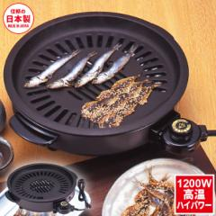 日本製 消煙グリラー 網焼き ホットプレート 1200W 電気ホットプレート 着脱式  焼き肉プレート ヘルシー 少煙 煙 焼き肉 焼肉