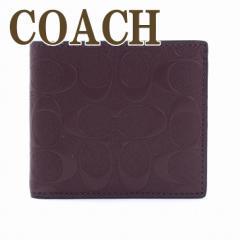 コーチ COACH 財布 メンズ 二つ折り財布 レザー ...