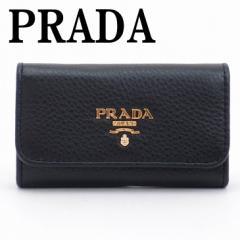 プラダ PRADA キーケース 6連 VITELLO GRAIN NERO 黒 レディース 1PG222-2E3A-F0002【lug_b】【lug_new】【lug_pic】【wrp16】