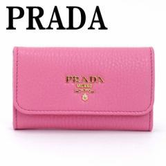 プラダ PRADA キーケース 6連 VITELLO GRAIN ピンク レディース 1PG222-2E3A-F0638【lug_b】【lug_new】【lug_pic】
