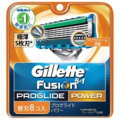 【送料無料】ジレット フュージョン 5+1 プログライドパワー 専用替刃8コ入り DM便