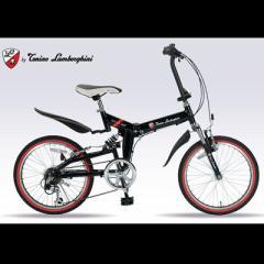 マイパラス  【送料無料】 TL-207-BK (トニーノ・ランボルギーニ) 20インチ 折りたたみ自転車 6SP W-SUS  【新品・税込】