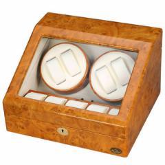 LUHW(ローテンシュラガー)  【送料無料】 LU30004RW 逸品が奏でる回転リズム!木製4連LEDワインディングマシーン 【新品・税込】