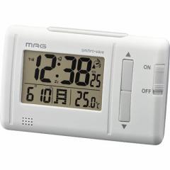 MAG  【送料無料】 T-692-WH-Z デジタル電波時計「ファルツ」(ホワイト) (T692WHZ) 【新品・税込】