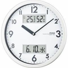 MAG  【送料無料】 W-631-WH 温湿度/カレンダー機能付掛時計「ダブルメジャー」(ホワイト) (W631WH) 【新品・税込】