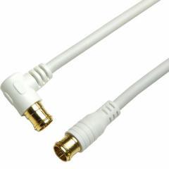 ホーリック 【送料無料】HAT100-057LPWH アンテナケーブル 10m ホワイト 両側F型差込式コネクタ L字/ストレートタイプ 【新品・税込】