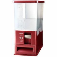 アスベル  【送料無料】 4974908750328 計量米びつ 12kg型 洗える米びつ レッド ( ライスストッカー 10kg ) 【新品・税込】