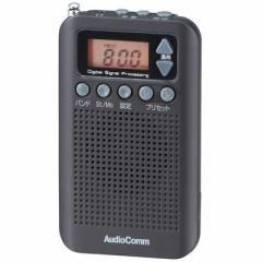 オーム電機  【送料無料】 RAD-P350N-K DSP式 ポケットラジオ(ブラック) (RADP350NK) 【新品・税込】