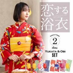 レディース浴衣セット3,980円 選べる浴衣大人柄系全7柄と帯の2点セット
