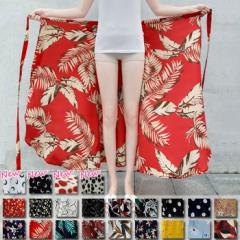 スカート 巻きスカート ロングスカート ワンピース 2WAY フレアスカート 体系カバー ボトムス (メール便送料無料) (b2