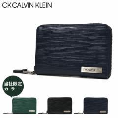 シーケー カルバンクライン 二つ折り財布 ラウンドファスナー タットII メンズ 808615 CK CALVIN KLEIN 本革