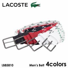 ラコステ ベルト メンズ LB85810 LACOSTE コットン レザー 日本製