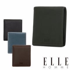エルオム 二つ折り財布 メンズ XP34190 ELLE HOMME Sheepskin レザー