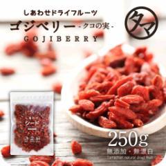 【送料無料】クコの実-無添加250g TVでも紹介された美容食材!漢方食材でもあるビタミン・ミネラル豊富なゴジベリー スーパーフ
