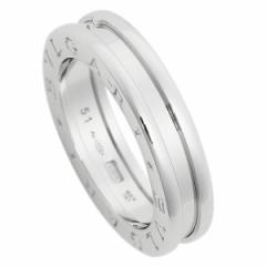 ブルガリ 指輪 メンズ レディース リング アクセサリー BVLGARI RWG1BAND AN852423 ビーゼロワン ワンバンド ホワイトゴールド