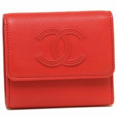 シャネル 折財布 レディース CHANEL A70339 Y33317 0B823 レッド