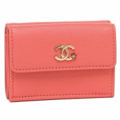 シャネル 折財布 レディース CHANEL A81651 Y33399 K1115 ピンク