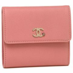 シャネル 折財布 レディース CHANEL A81654 Y33399 K1114 ピンク