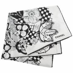 シャネル ストール レディース CHANEL AA0010 X12241 C2176 ホワイト ブラック